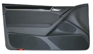 VW Golf 6 » nur 2-türig « Doorboards mit 3-Wege Soundsystem