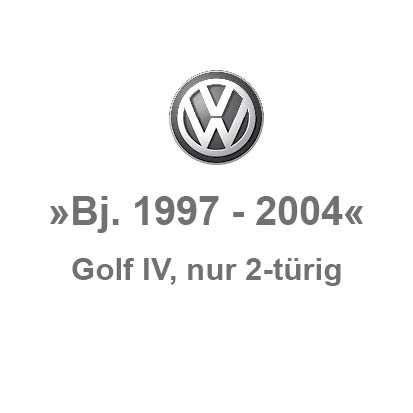 Golf 4 »nur 2-türig«