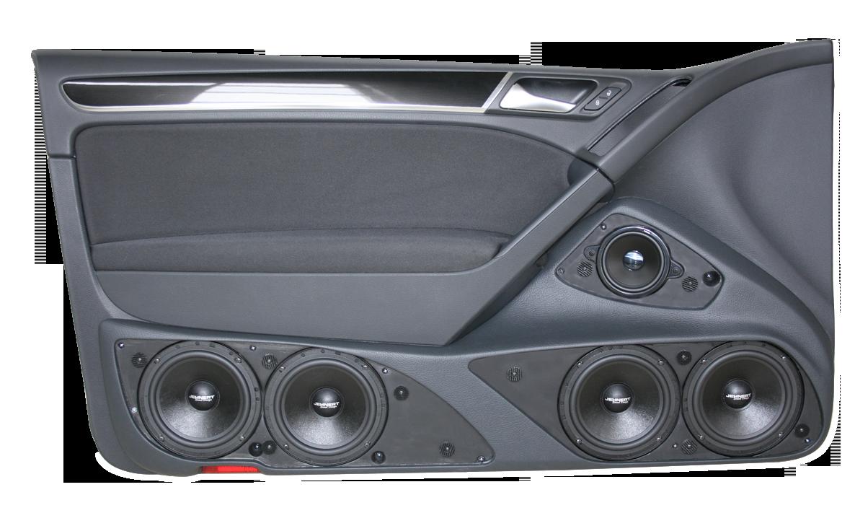 vw golf 6 2 doors doorboards with 3 way soundsystem jehnert sound design automotive. Black Bedroom Furniture Sets. Home Design Ideas