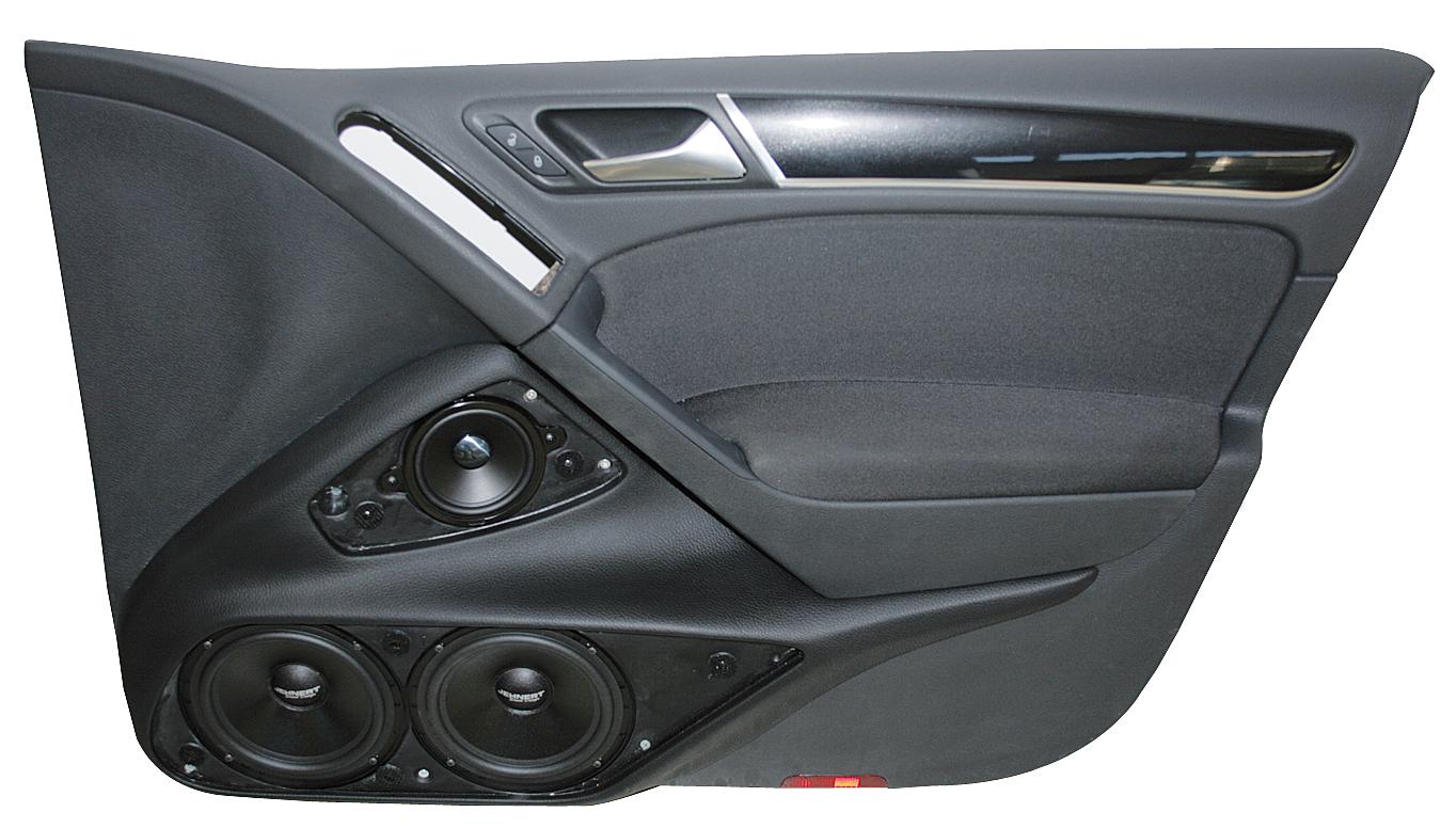 vw golf 6 4 doors doorboards with 3 way soundsystem. Black Bedroom Furniture Sets. Home Design Ideas